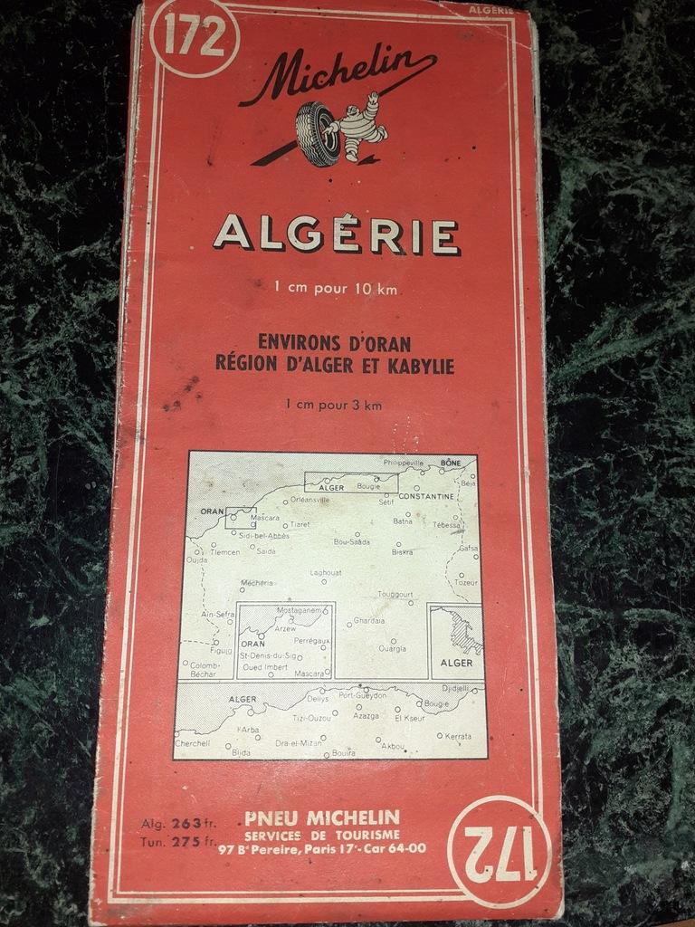 FRANCJA Michelin Oryginalna Mapa podrozna ALGERII