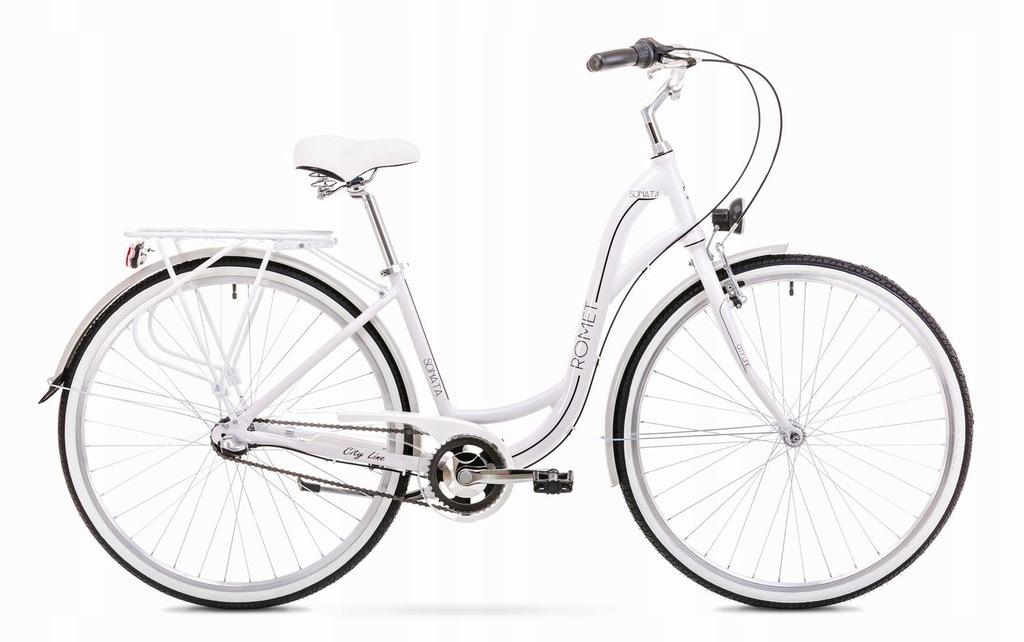 1928169 - 19 L Rower ROMET SONATA 2.0 biało-czarny