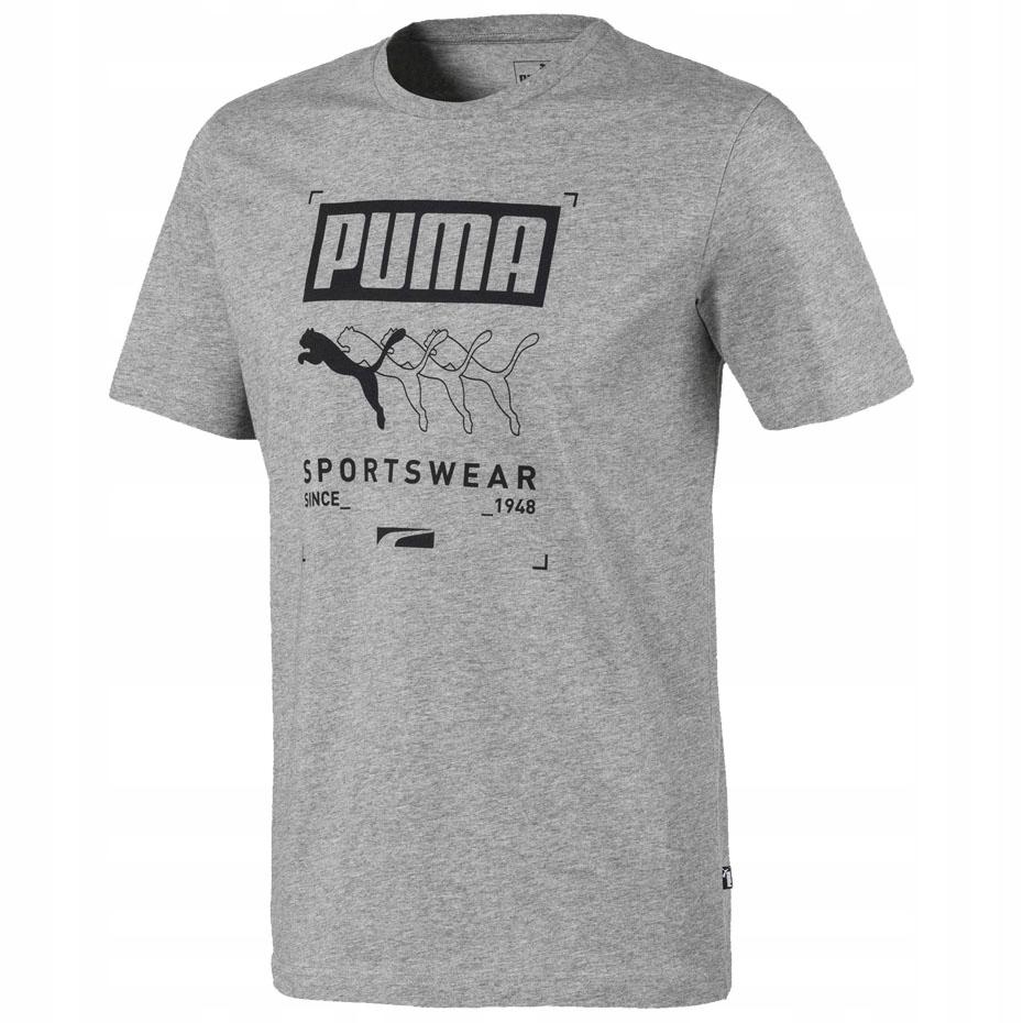 Koszulka męska Puma Box Tee szara 581908 03 S