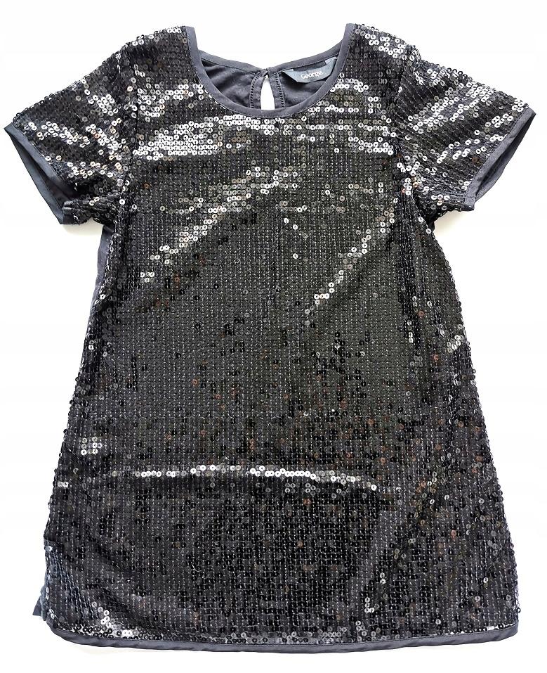 Cekinowa tunika sukienka 6-7 L 122cm GEORGE