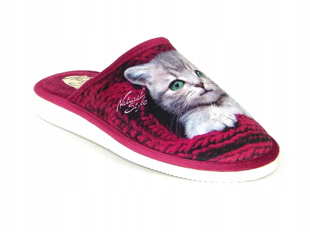 Pantofle kapcie damskie Natural Style 128 BO 37
