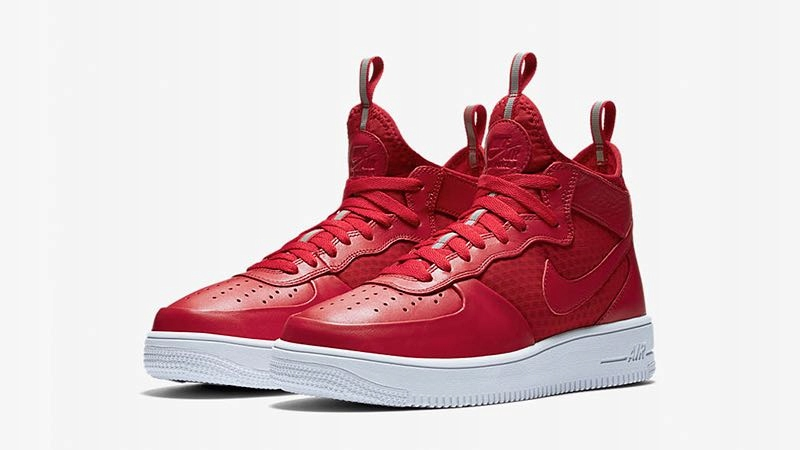 NIKE AIR FORCE 1 ULTRAFORCE MID GYM RED