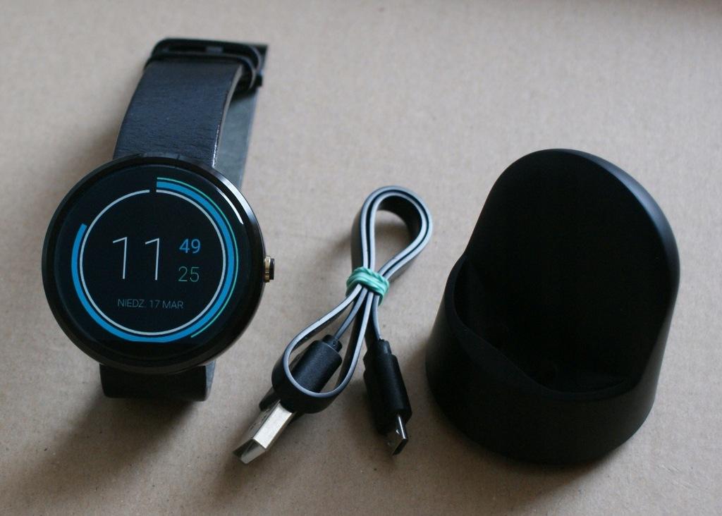 Smartwatch Motorola Moto 360 Lenovo Moto360 zestaw