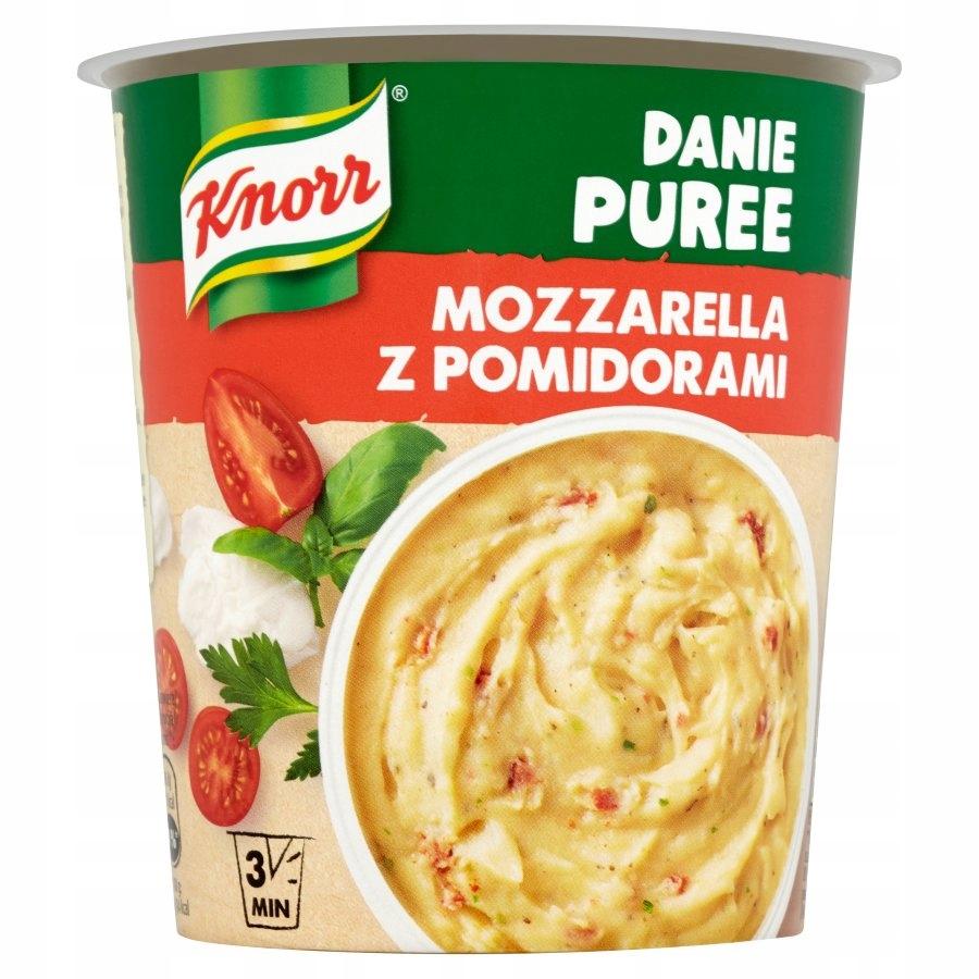Danie błyskawiczne puree Knorr mozzarella pomidory
