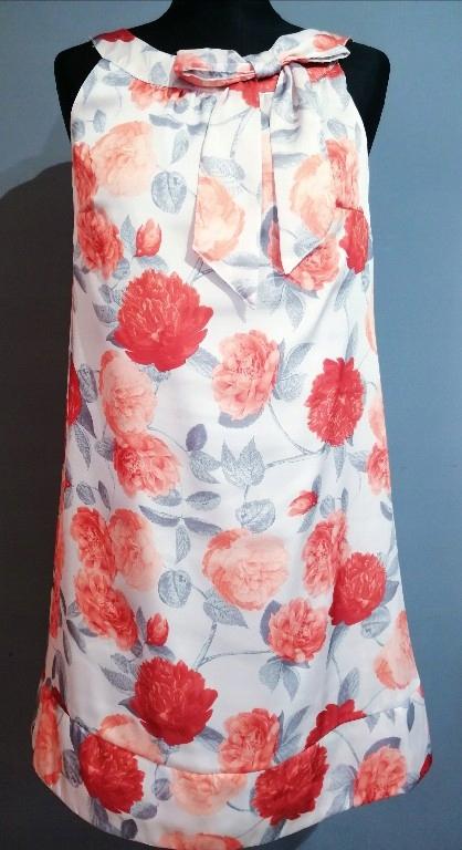 Śliczna sukienka H&M kwiaty pomarańczowa _38