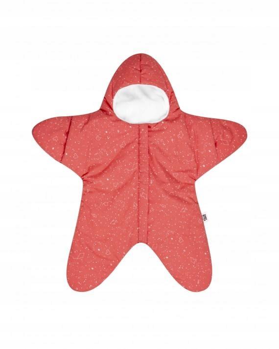 Kombinezon zimowy Baby Bites Coral Star 3-6m