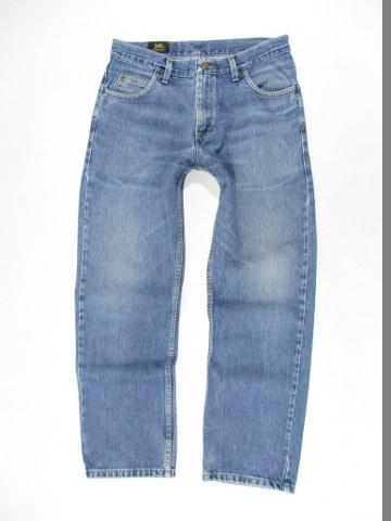 LEE BROOKLYN Spodnie Męskie Proste Jeans_ 3430