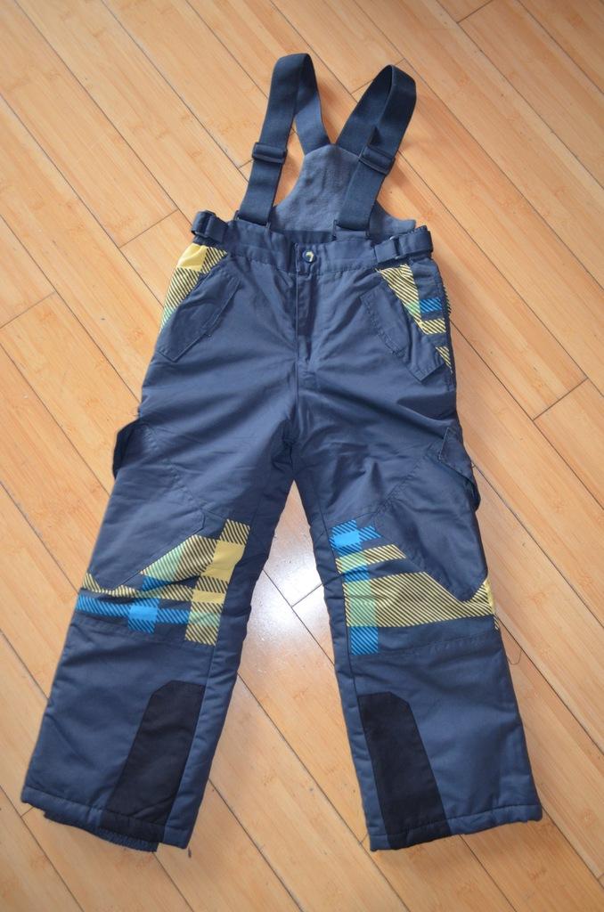 Spodnie narciarskie szare rozmiar 122 coolclub