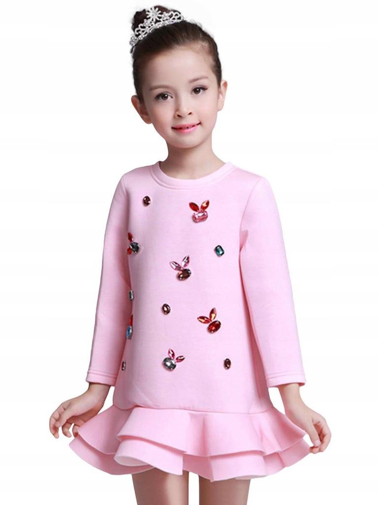 Różowa sukienka dla twojej czterolatki !