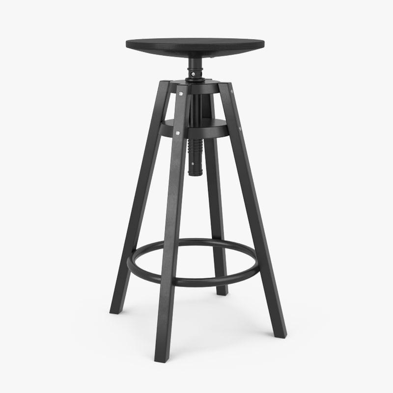 IKEA DALFRED stołek regulowany barowy hoker