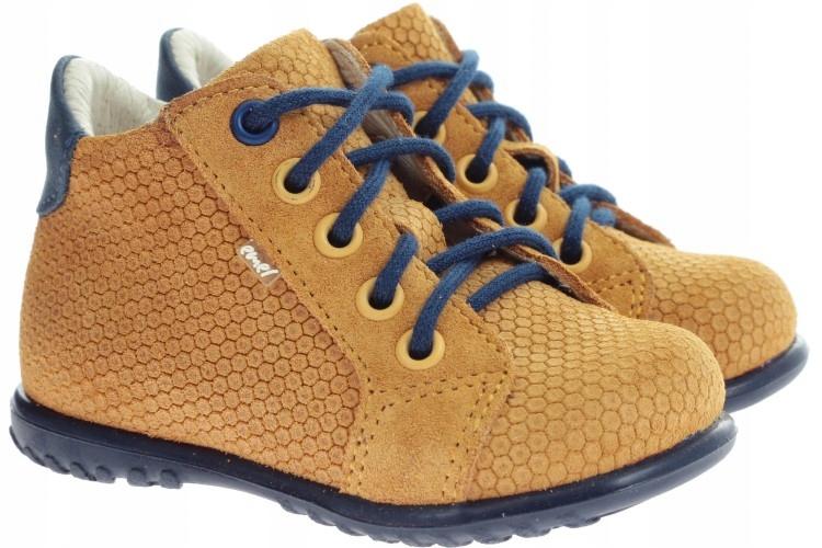 SZNUROWANE buty ROCZKI EMEL sztywny zapiętek 24
