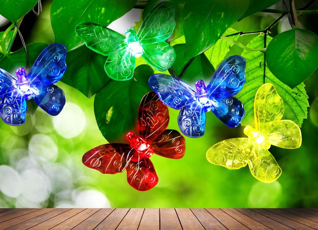 Lampki solarne Polux Motylki Led 20