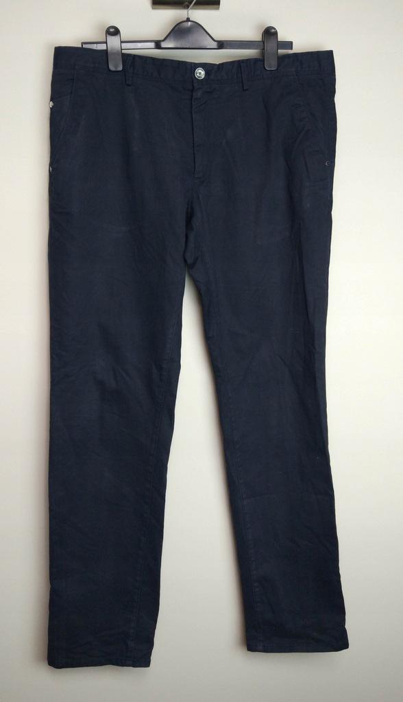 MASSIMO DUTTI granatowe spodnie chinos 48