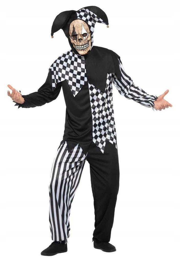 Strój Błazen Przebranie szkielet Kostium Halloween