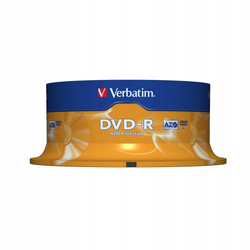 DYSK VERBATIM DVD-R 4.7 GB 16X MATTE SILVER CAKE B