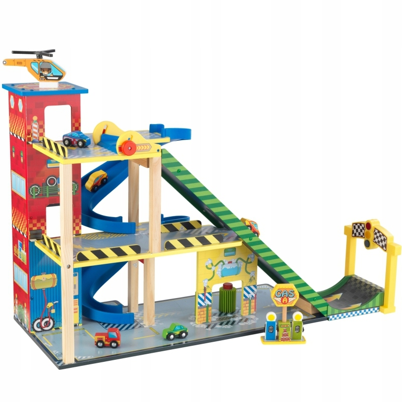 Kidkraft Drewniany Garaż Dla Dzieci Mega Rampa