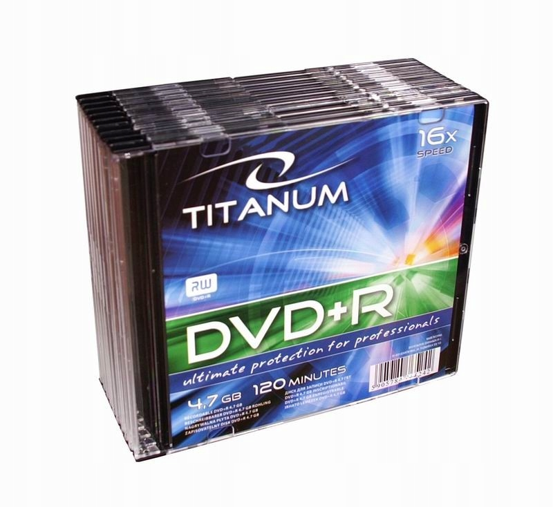 DVD+R 4,7 GB x16 - Slim 10