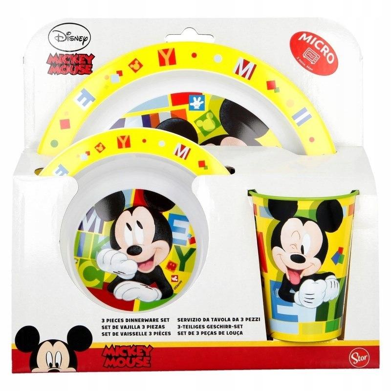Mickey Mouse - Zestaw naczyń do mikrofali (Talerz,