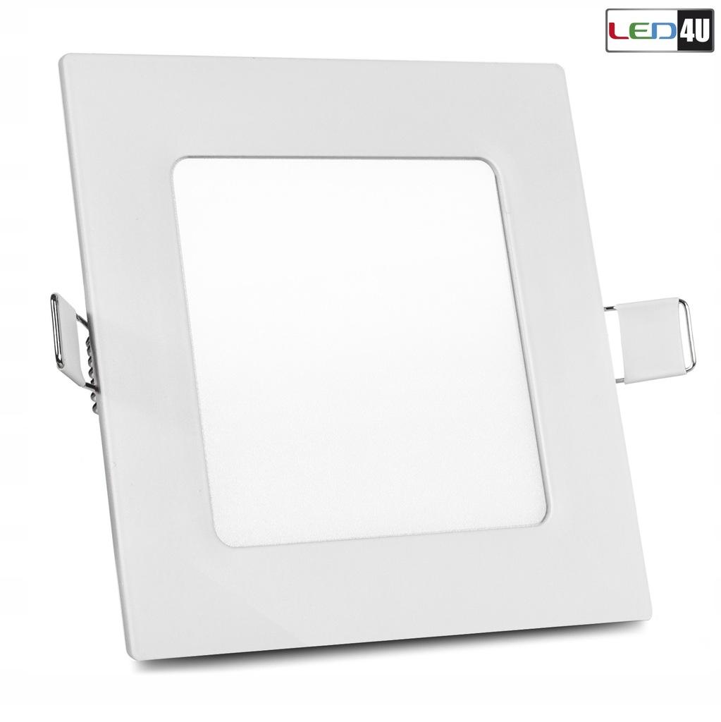Panel LED sufitowy podtynkowy slim 6W Warm white 2