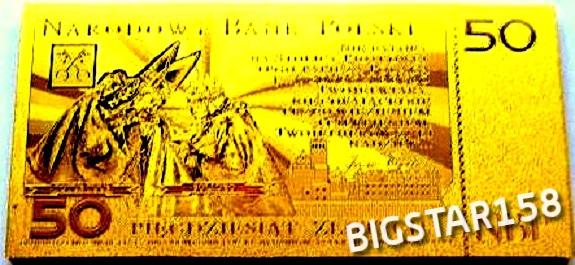 BANKNOT JAN PAWEŁ II -24 KARAT !!! ZŁOTY ! SUPER !