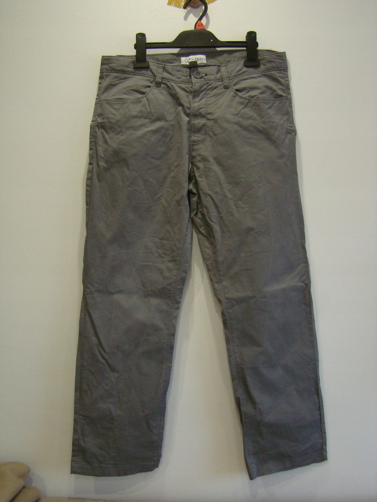 Spodnie Calvin Klein chinosy szare 31x29