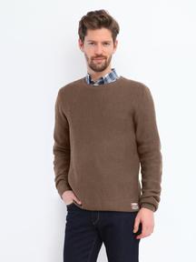 Top Secret Sweter Męski Brązowy XXL OUTLET