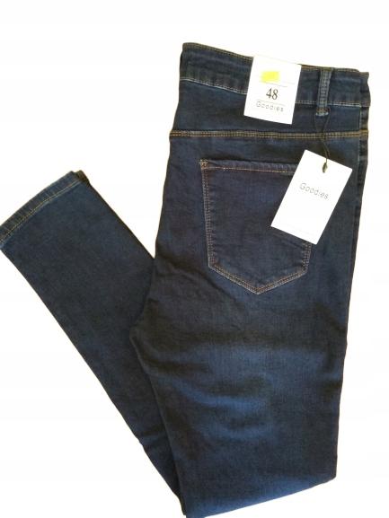 Spodnie jeans Goodies Wysoki Stan Rurki Rozmiar 48