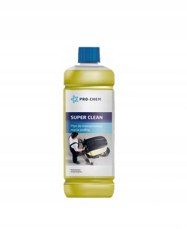 SUPER CLEAN Płyn maszynowe mycia podłóg 1L