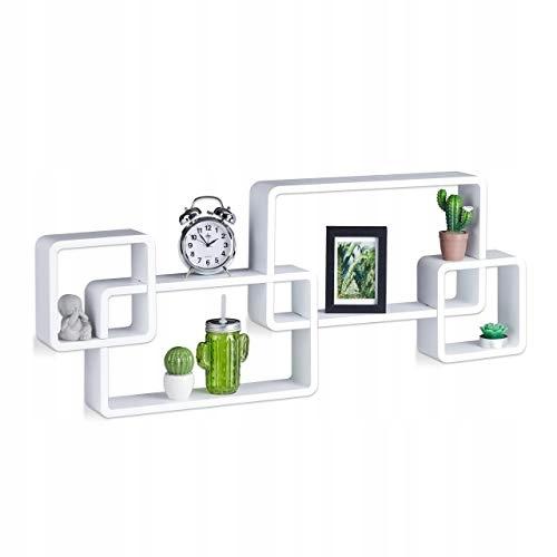 Półka ścienna Relaxdays Cube MDF biała