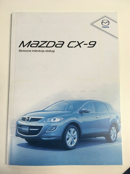 Mazda CX-9 (TB) instrukcja obsługi - NOWA!