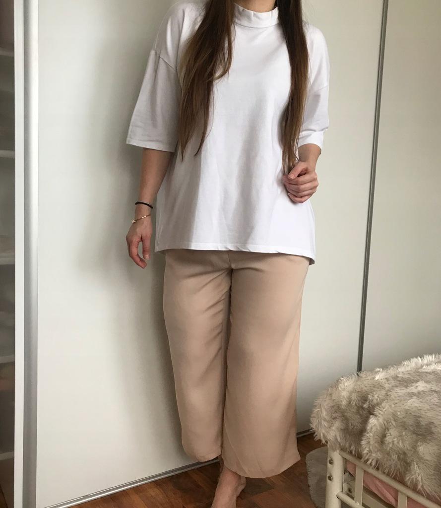 szerokie spodnie szwedy zara m allegro