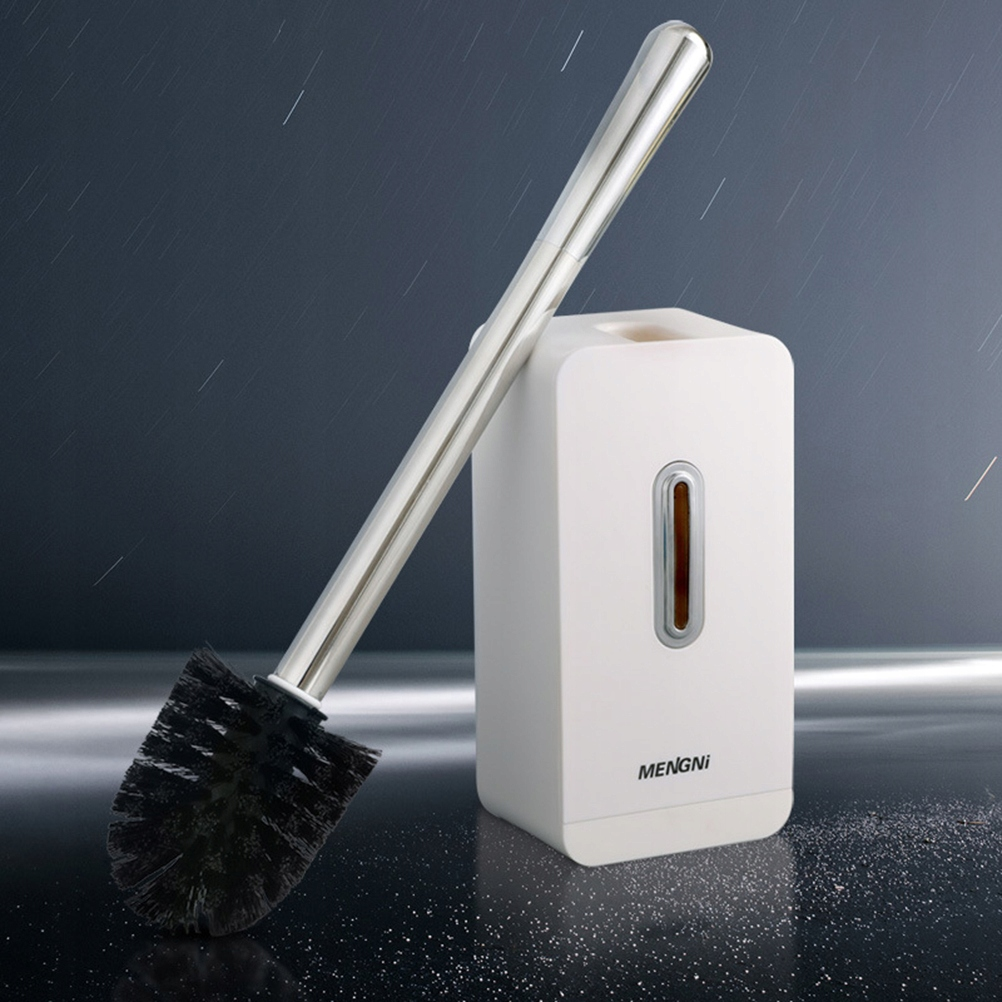 Home Toilet Brush Set Thicken Stainless Steel and