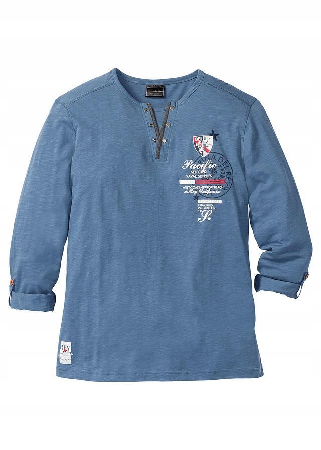 Shirt z długimi wywija niebieski 44/46 (S) 923207