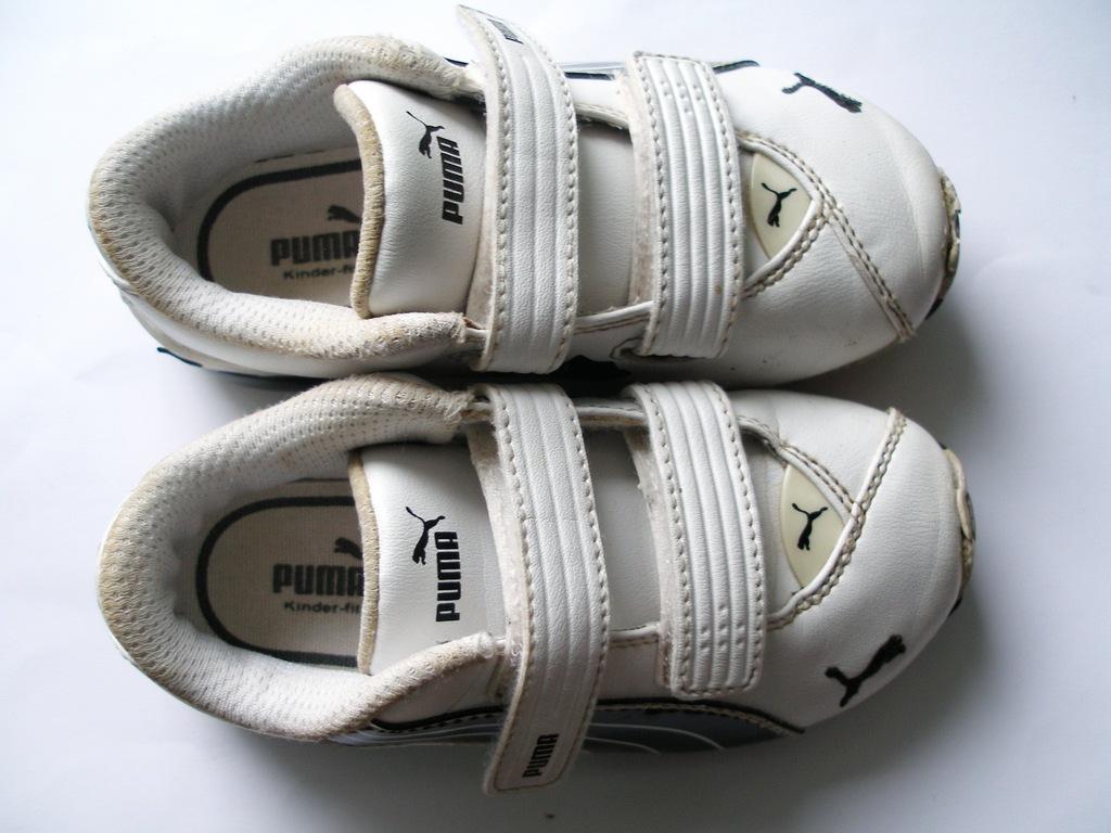 PUMA adidasy buty sportowe na rzepy bia?e skrzane 25