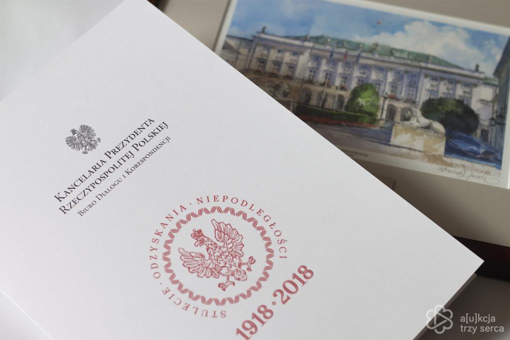 Obraz Pałacu Prezydenckiego od Prezydenta Dudy