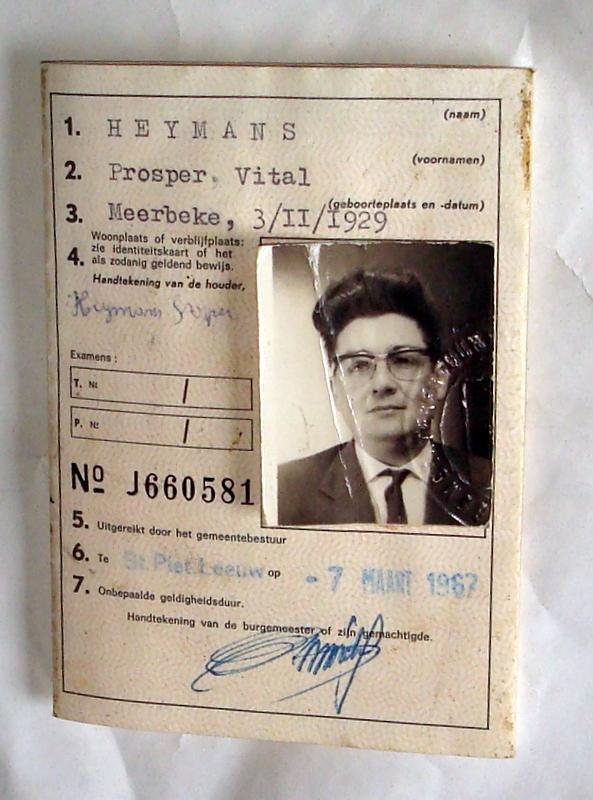 Stare Belgijskie Prawo Jazdy -1967r.