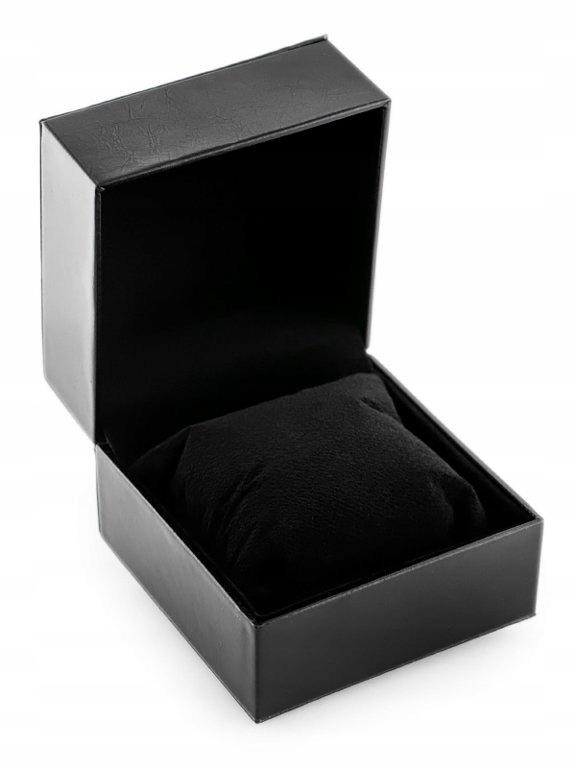 Prezentowe pudełko na zegarek - przeszywane