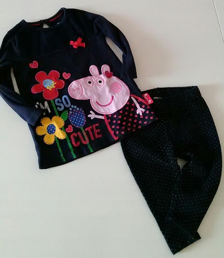 MAYORAL_zestaw legginsy ciepłe bluzeczka Peppa_ 86