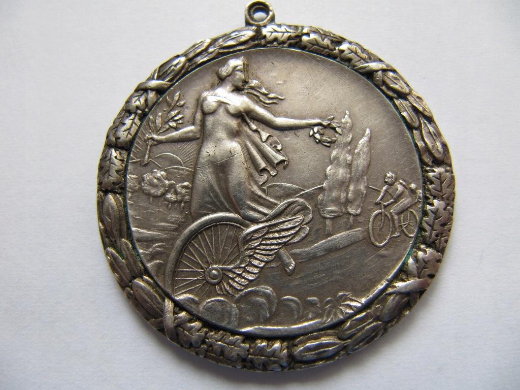 Cykliści 1929 r.Medal- nagroda ( sygn. Bobkowicz