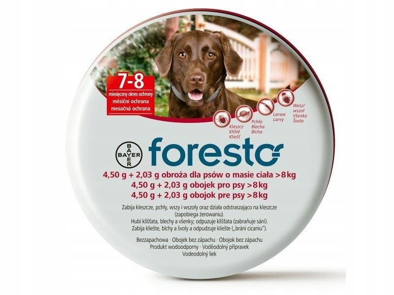 Bayer Foresto Obroza 70cm Dla Psow Powyzej 8kg 8475443916 Oficjalne Archiwum Allegro