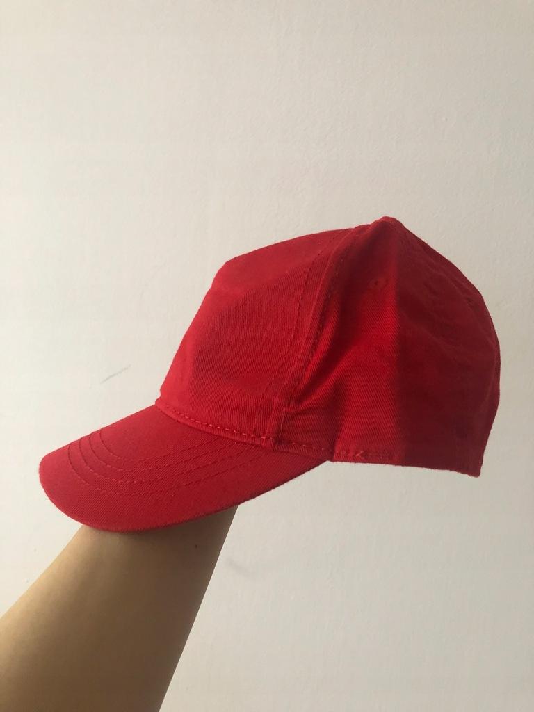 Czerwona czapka z daszkiem H&M 86 49 cm