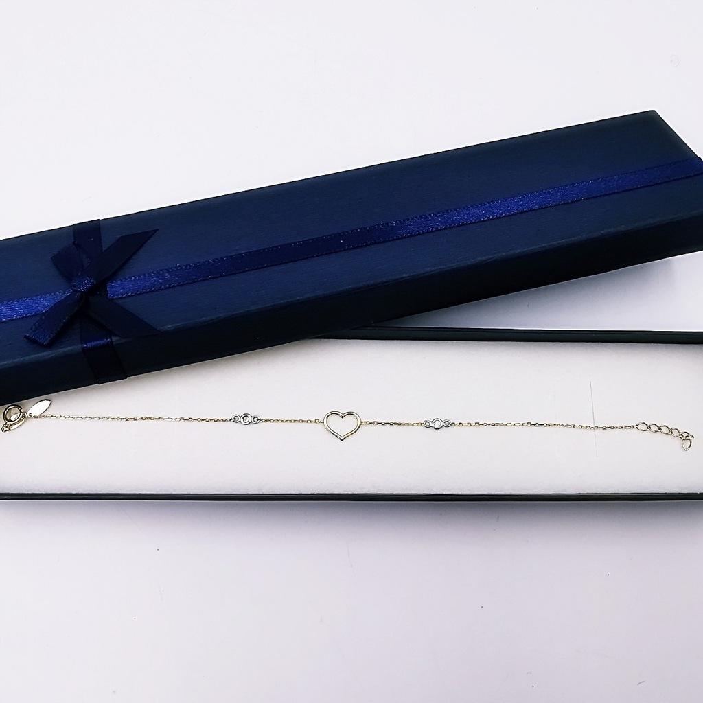 Złota bransoletka 585 APART 18,5cm