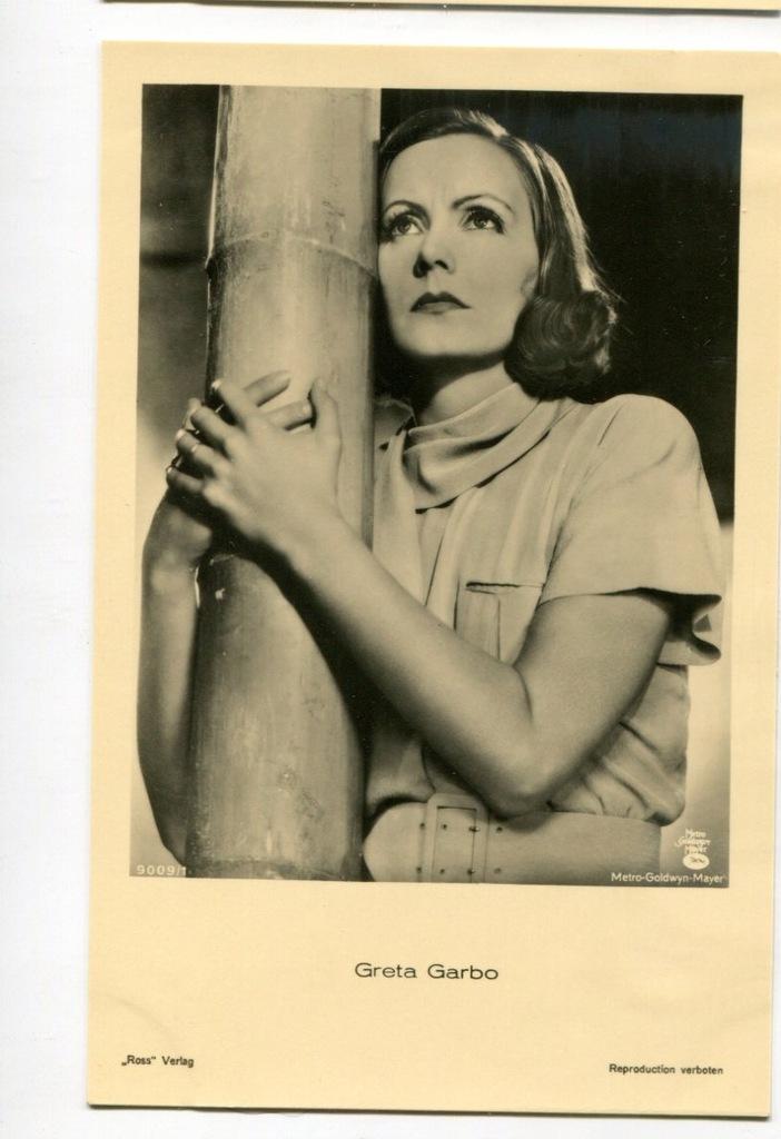 Greta Garbo Kino Film Aktorka Foto Pocztówka 39