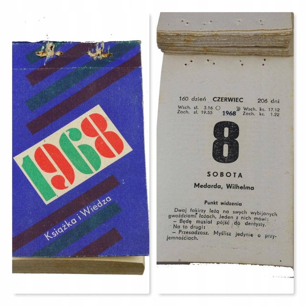 52 urodziny PREZENT kartka kalendarz zdzierak 1968