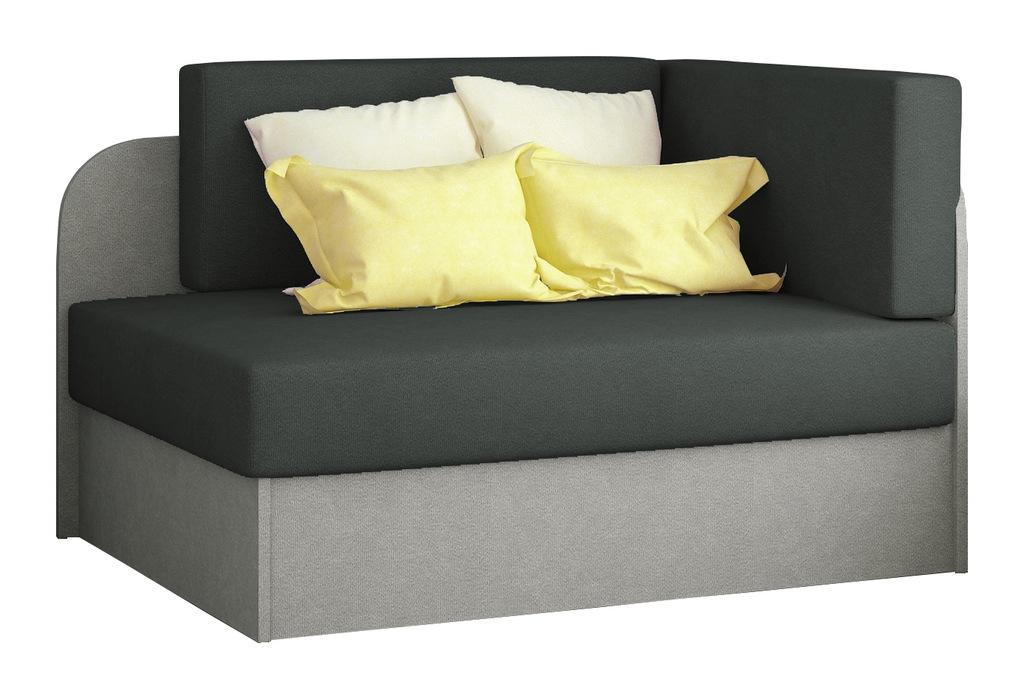 Kanapa łóżko ROSA młodzieżowe sofa szare RIBES