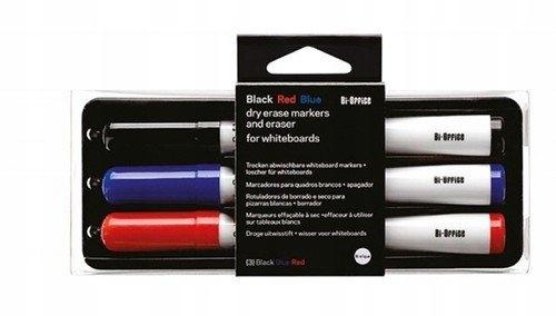 Zestaw do tablic magnetycznych 3 markery + gąbka