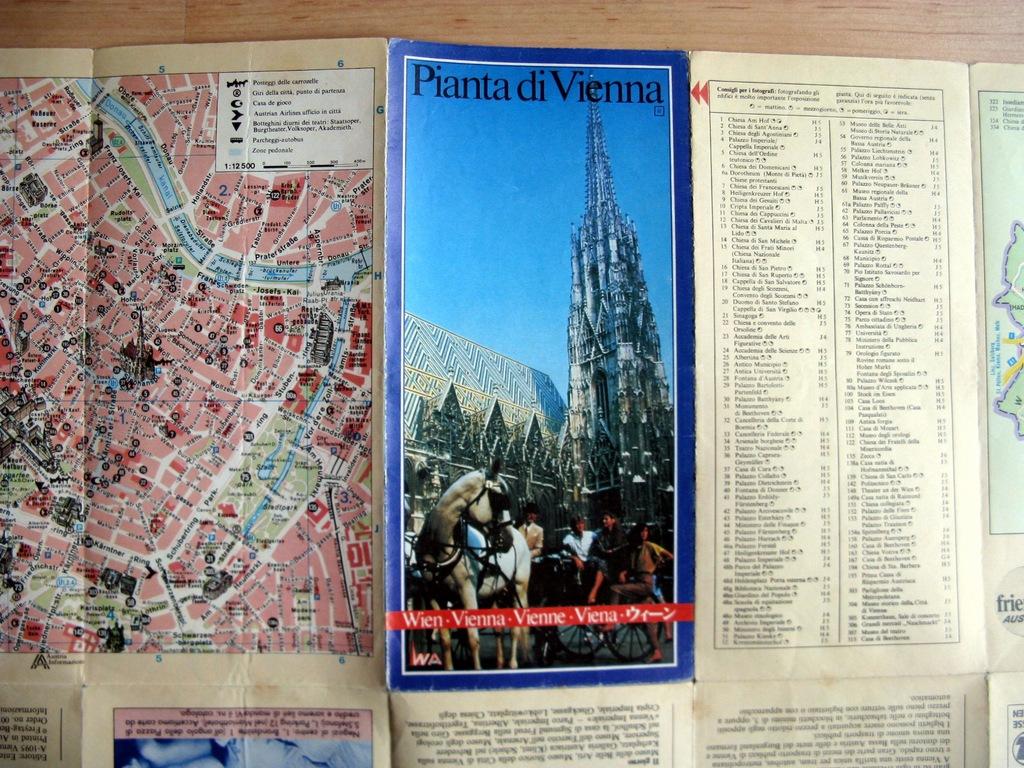 plan mapa turystyczna Austria Wiedeń Wien 1985?