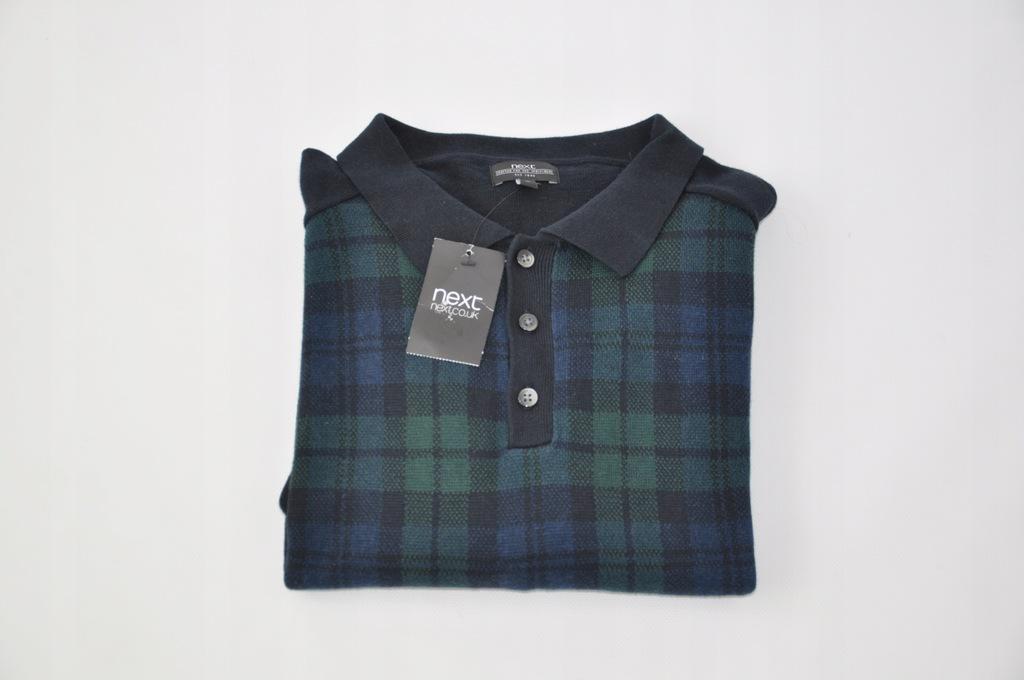 NEXT Sweter Z KOŁNIERZYKIEM pulower XL NOWY