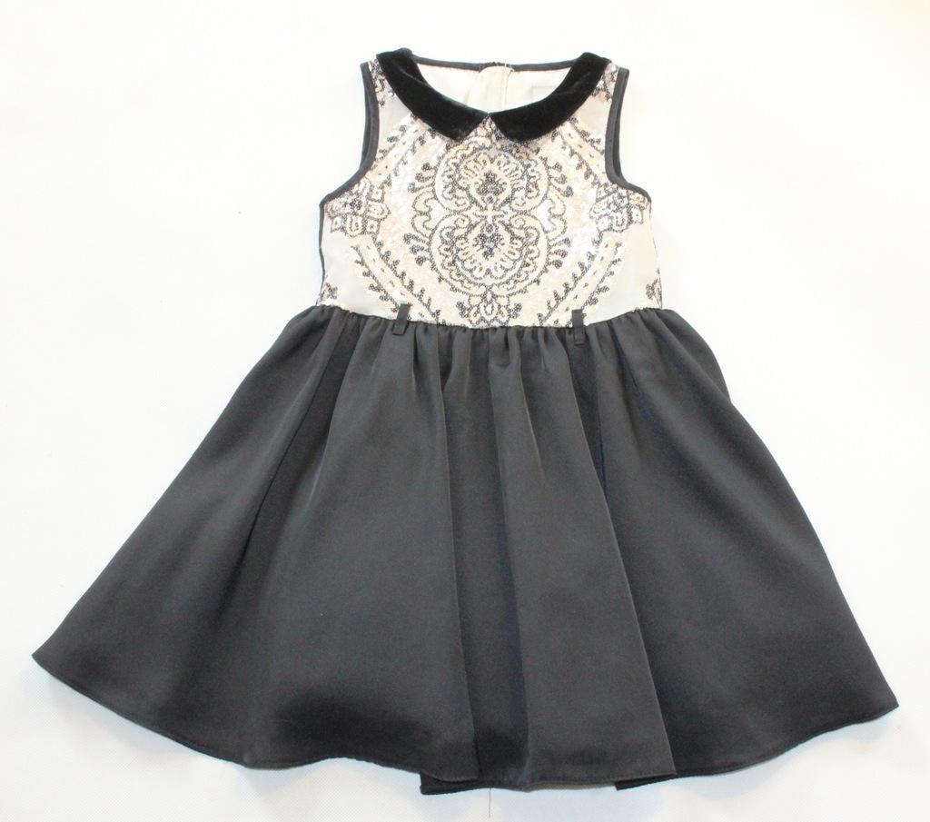 Sukienka TU wizytowa zdobiona cekinami r 104 3-4l