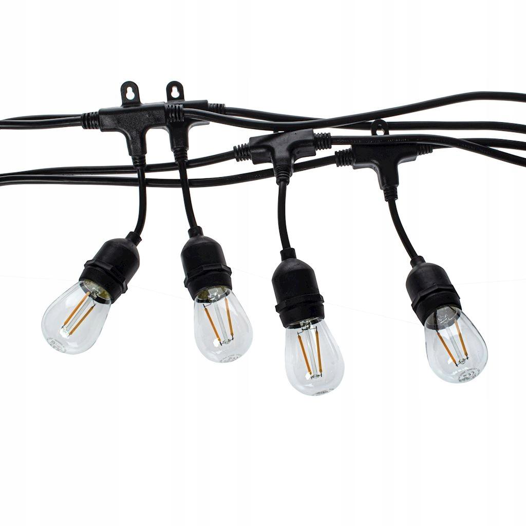 Girlanda Ogrodowa łańcuch 30m +żarówki LED 1,5W